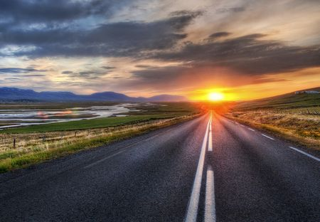 On_the_road_sunset